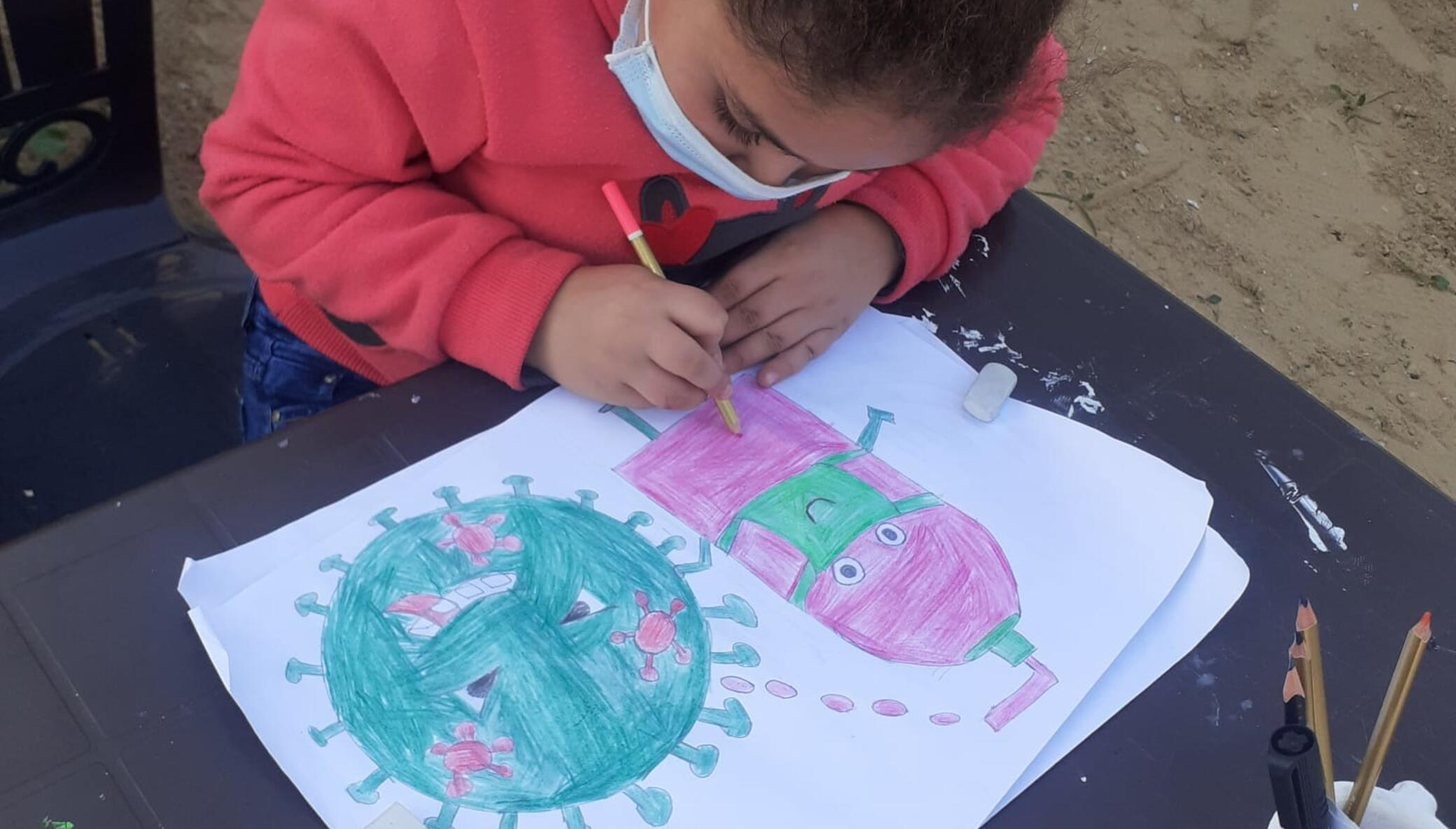 Art, Science, & English For Gaza Kids During COVID