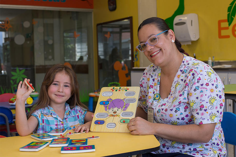 Hospital classroom for sick children in Medellin