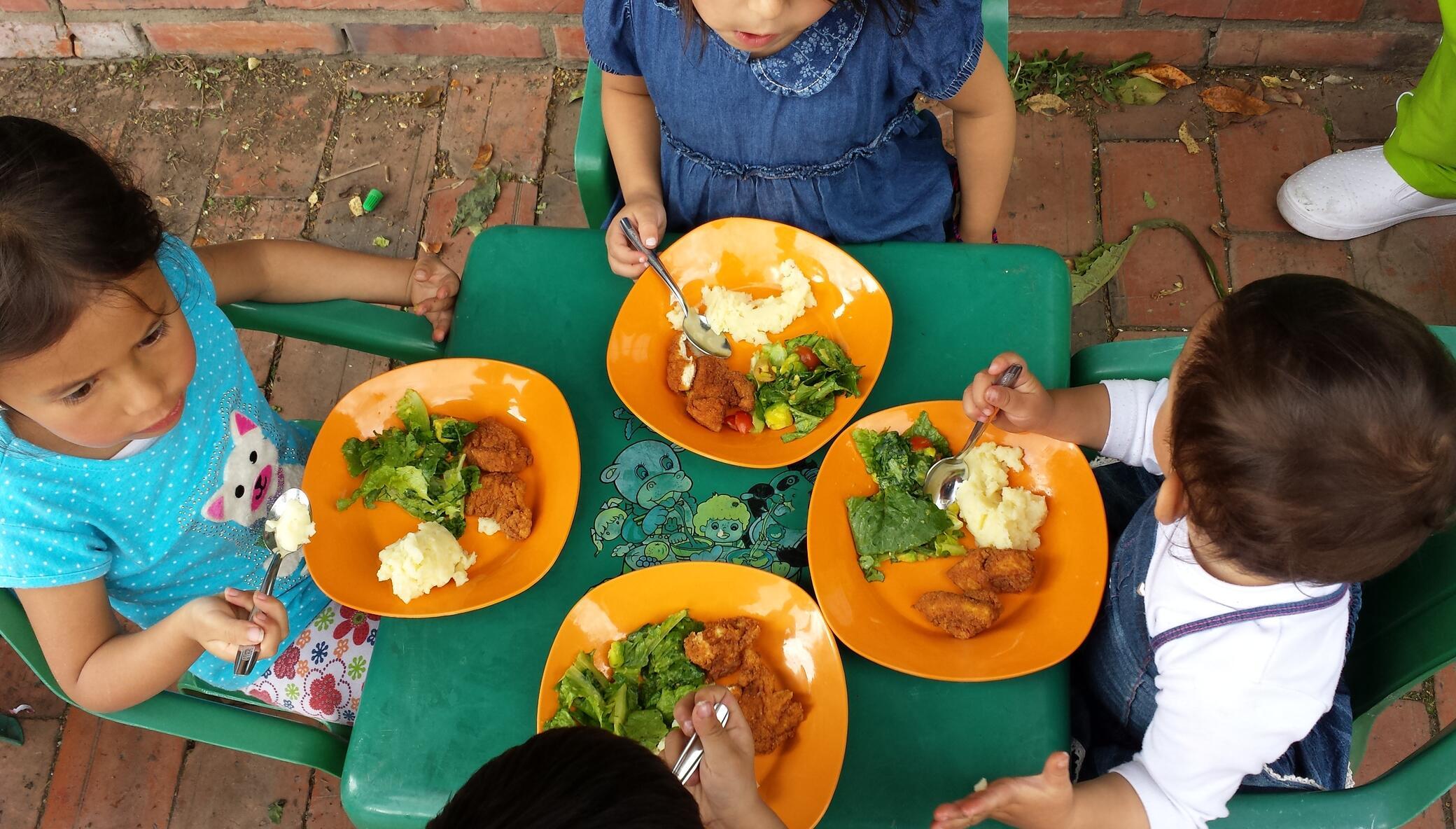 Nourish Colombian children with vegetable gardens