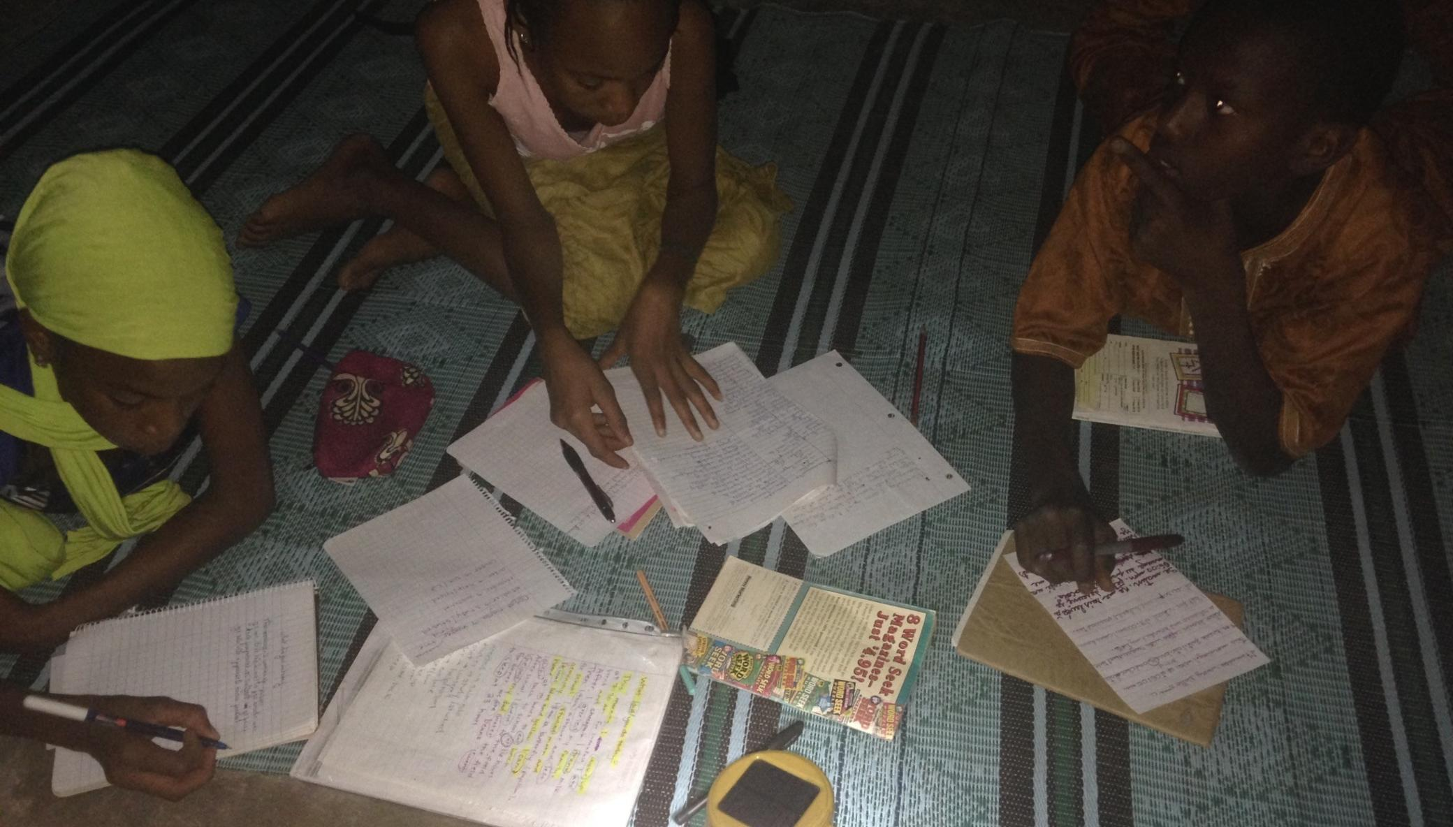 Provide solar lanterns to poor school children