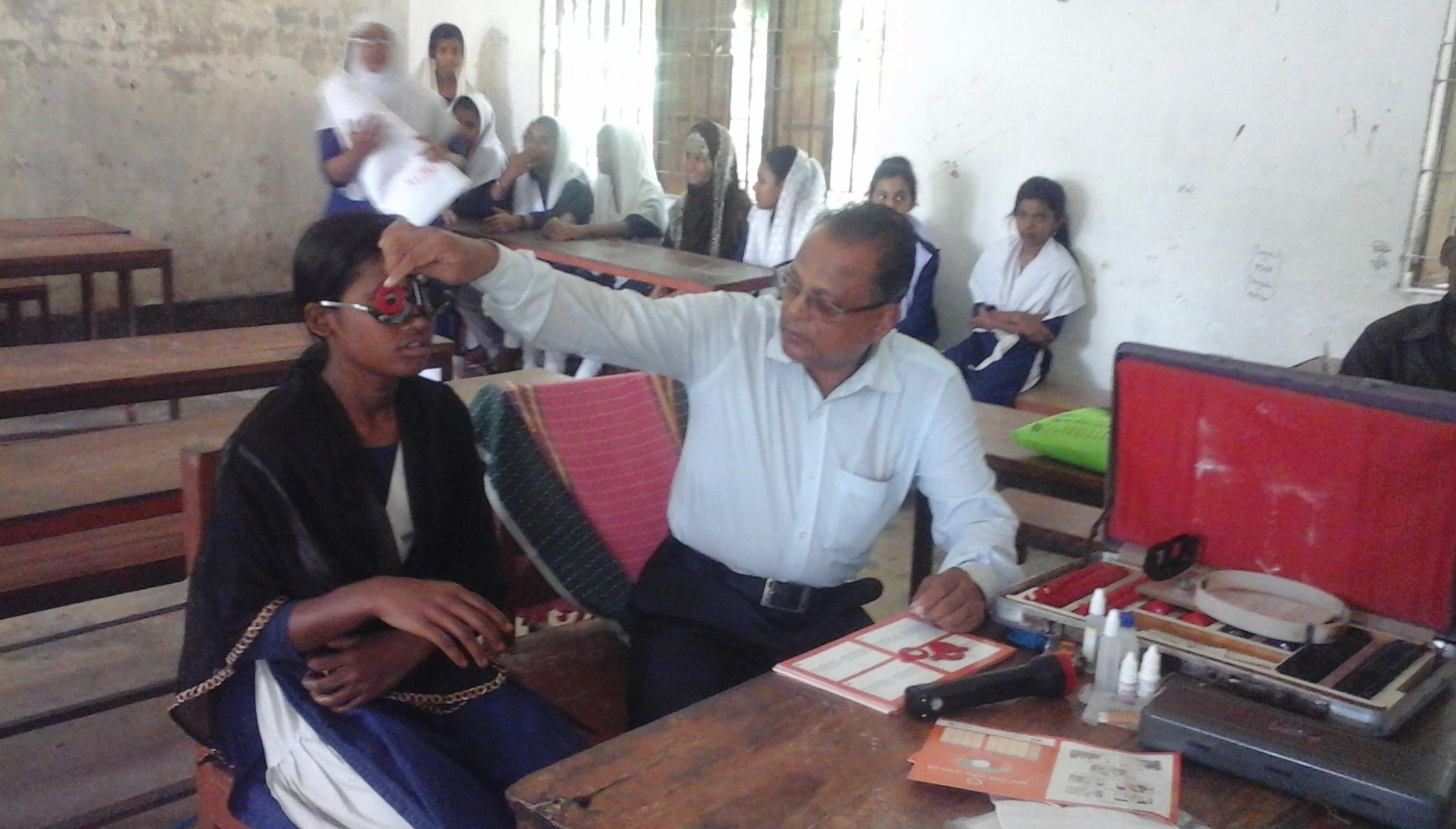 Restore vision to2000 Bangladeshi village students