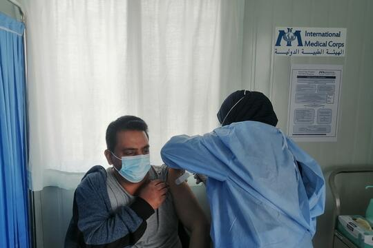 Supporting COVID-19 Vaccination Efforts in Jordan Refugee Camps